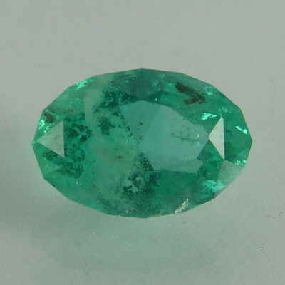 faceted oval emerald, columbia