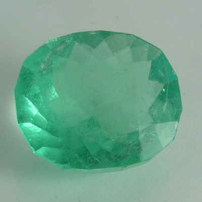 faceted oval emerald, turkey