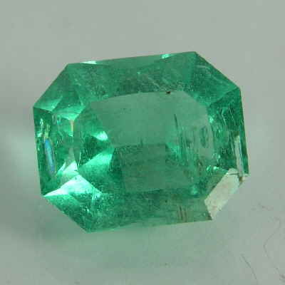 faceted rectangle emerald, columbia