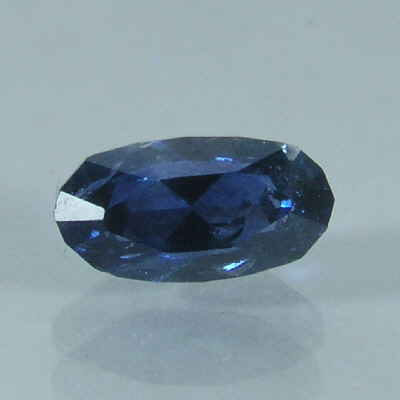 faceted blue oval sapphire, montana, USA