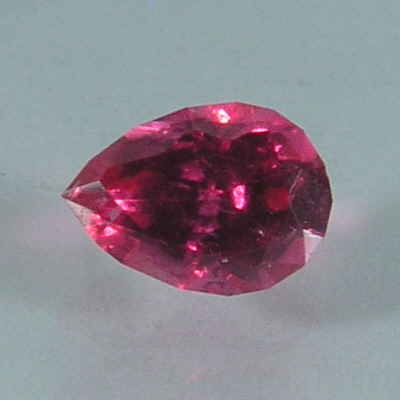 faceted hot pink pear spinel, tanzania