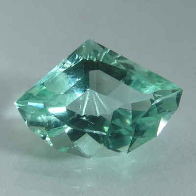 faceted teal fan tourmaline, afghanistan